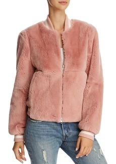 Elizabeth and James Ellington Real Rabbit Fur Bomber Jacket