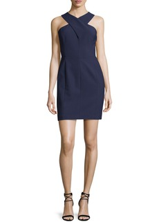 Elizabeth and James Elliot Sleeveless Cutout Stretch Crepe Mini Dress