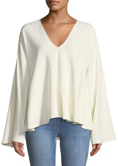 Elizabeth and James Ellis Long-Sleeve V-Neck Top