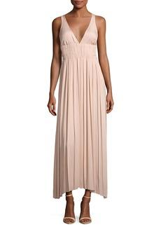 Elizabeth and James Ellison Sleeveless Smocked-Waist Gathered Dress