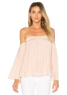 Elizabeth and James Emelyn Pleated Top