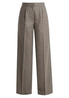 Elizabeth And James Etta high-rise wide-leg wool-blend trousers