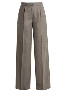 Elizabeth And James Etta high-rise wide-leg wool-blend trousers