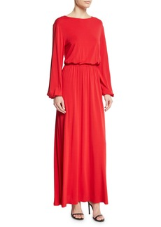 Elizabeth and James Evy Full-Sleeve Blouson Top A-Line Maxi Dress