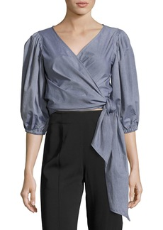 Elizabeth and James Farrah Side-Tie Wrap Cotton Top