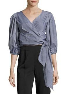 Elizabeth and James Farrah Side-Tie Wrap Cotton Top