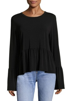 Elizabeth and James Fenton Knit Bell Sleeves Top