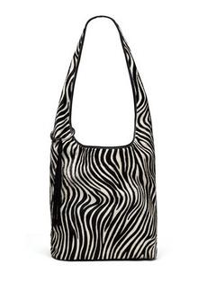 Elizabeth and James Finley Courier Zebra Calf-Hair Hobo Bag