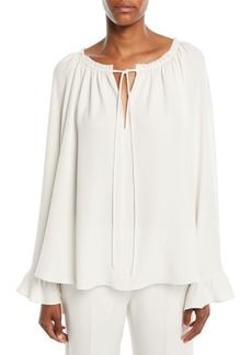 Elizabeth and James Fleur Ruffled V-Neck Long-Sleeve Top