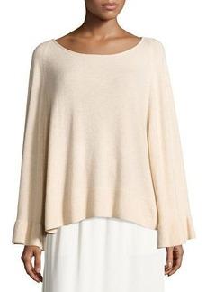 Elizabeth and James Freja Wool-Blend Flutter-Sleeve Sweater