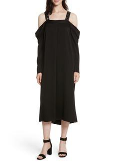 Elizabeth and James Fynn Embellished Cold Shoulder Midi Dress