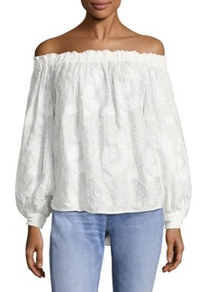 Elizabeth and James Geneva Off-The-Shoulder Fil Coupé Top