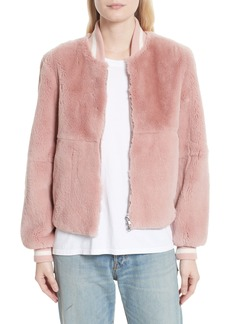 Elizabeth and James Genuine Rabbit Fur Bomber