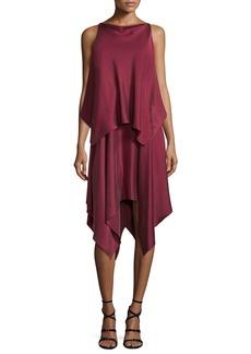Elizabeth and James Greer Sleeveless Satin Handkerchief Dress