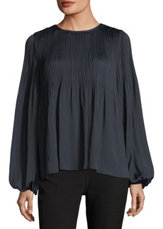 Elizabeth and James Grove Long-Sleeve Pleated Blouse