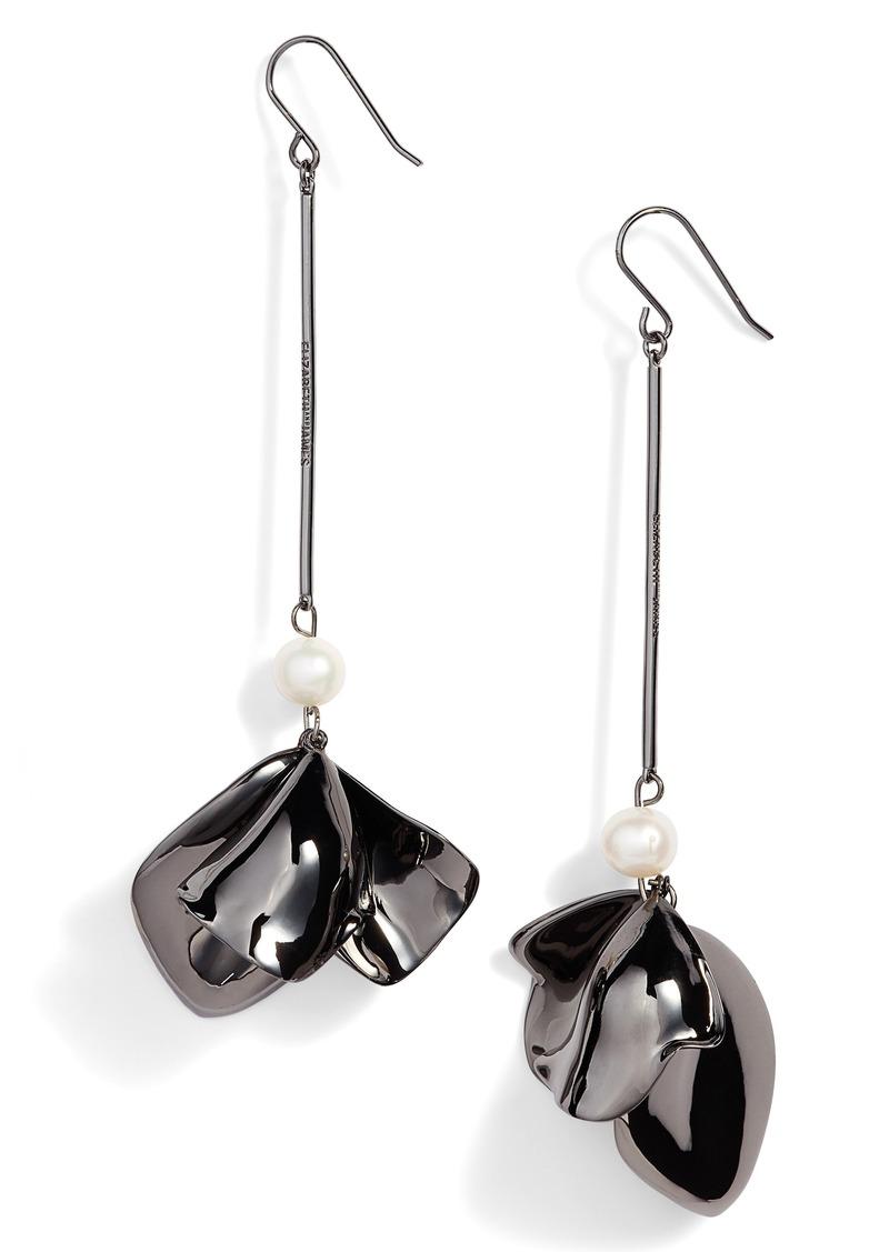 Elizabeth and James Hanalei Posy Pearl Drop Earrings