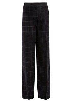 Elizabeth And James Hansel high-rise wide-leg wool-blend trousers