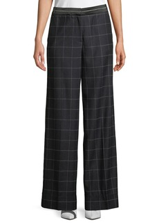 Elizabeth and James Hansel Windowpane Wide-Leg Trouser