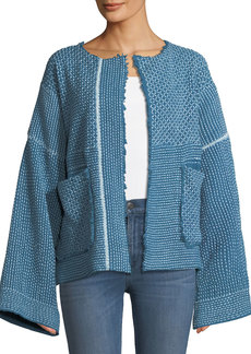 Elizabeth and James Hayden Wide-Sleeve Belted Hand-Quilted Jacket