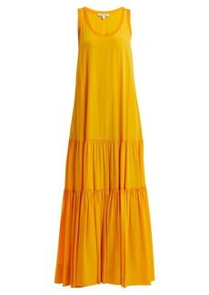 Elizabeth And James Hazel scoop-neck gathered silk dress