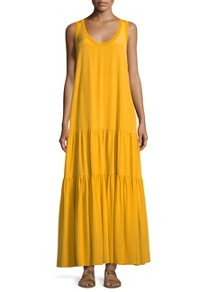 Elizabeth and James Hazel Scoop-Neck Sleeveless Silk Tank Dress