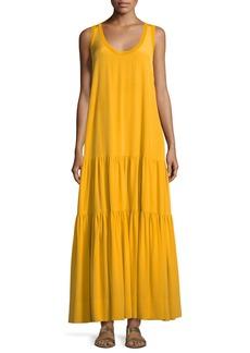 Elizabeth and James Hazel Scoop-Neck Sleeveless Silk Tank Dress