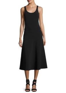 Elizabeth and James Hunter Scoop-Neck Sleeveless Ponte Midi Dress