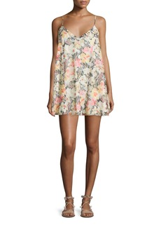 Elizabeth and James Idris Sleeveless Floral-Print Shift Dress