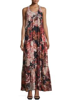 Elizabeth and James Izzie Floral Silk Maxi Dress