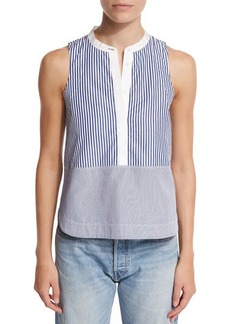 Elizabeth and James Jacey Sleeveless Striped Poplin Top