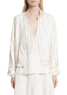 Elizabeth and James Jacque Floral Print Silk Bomber Jacket