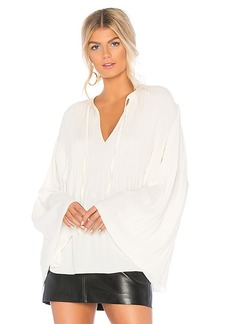 Elizabeth and James Jade Pleated Top