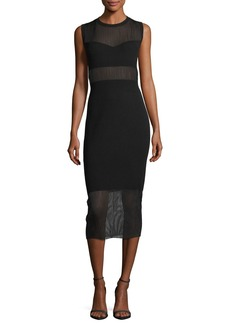 Elizabeth and James Jasmine Crewneck Sleeveless Straight-Fit Dress