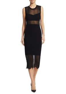 Elizabeth and James Jasmine Illusion Sheath Dress