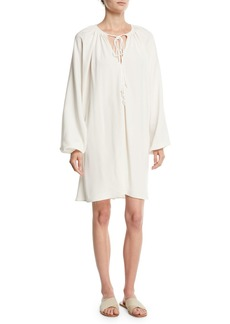 Elizabeth and James Jasmine V-Neck Full-Sleeve Crepe Shift Dress