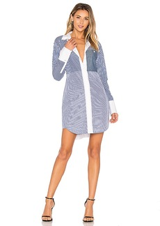 Elizabeth and James Jay Shirt Dress in Blue. - size M (also in S,XS)