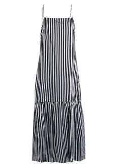 Elizabeth And James Jewel striped twill cami dress