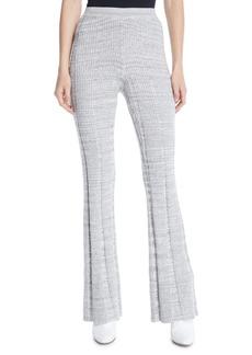 Elizabeth and James Joan Slim Flare Rib-Knit Pants
