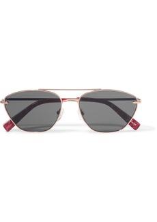 Elizabeth and James Johnson aviator-style rose gold-tone sunglasses