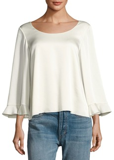 Elizabeth and James Karlotta Boat-Neck Scoop-Back Blouse