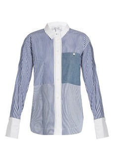 Elizabeth And James Keating point-collar striped cotton shirt