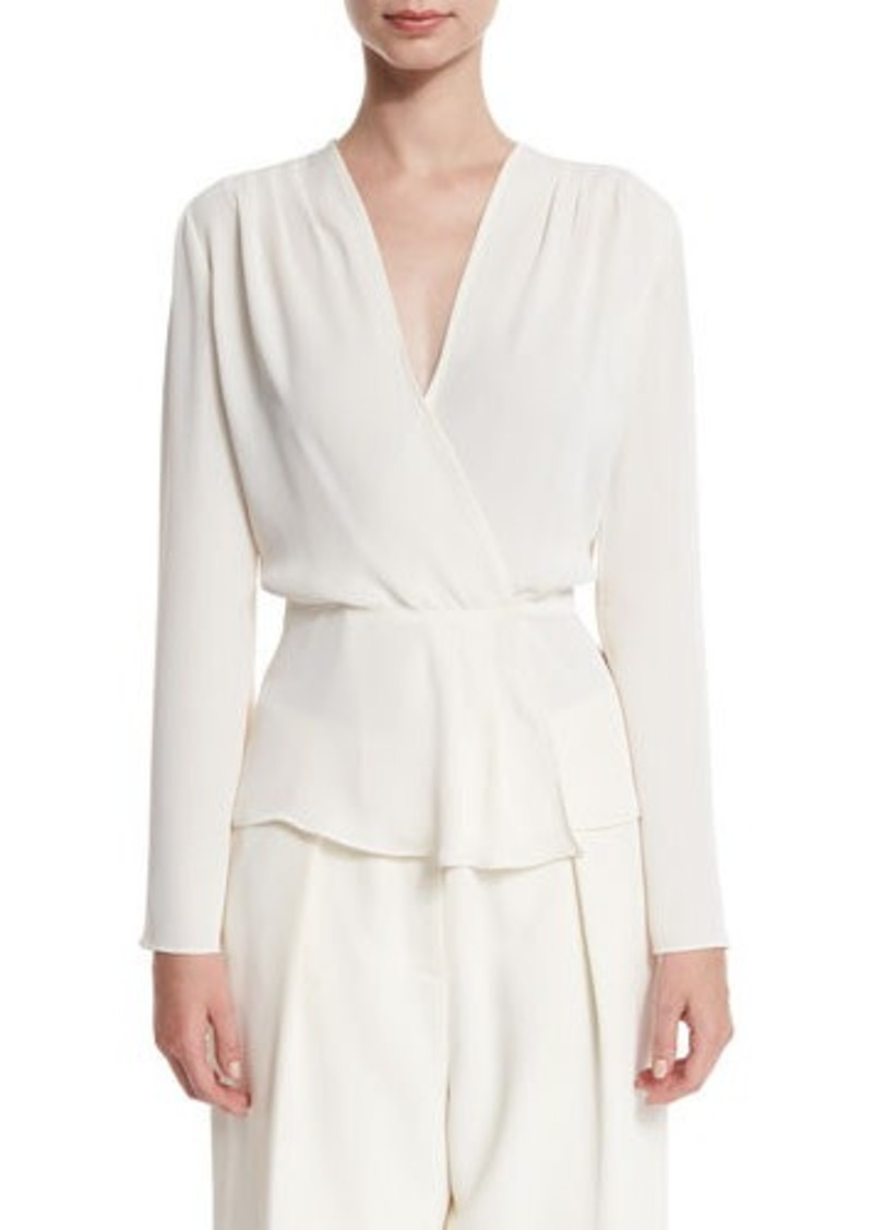 Elizabeth and James Layla Chiffon Surplice Blouse