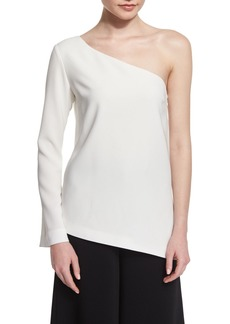 Elizabeth and James Layla One-Sleeve Blouse  Ivory