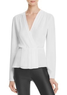 Elizabeth and James Layla Pleated Wrap Blouse