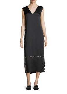 Elizabeth and James Leigh Grommet-Trim V-Neck Dress