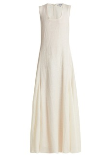Elizabeth And James Lenox linen and silk-blend dress
