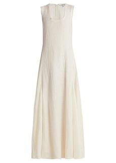 Elizabeth And James Lenox linen and silk-blend dress