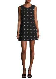 Elizabeth and James Lindsey Embellished Sleeveless Mini Shift Dress