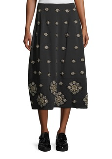 Elizabeth and James Lottie Embellished Midi A-Line Skirt