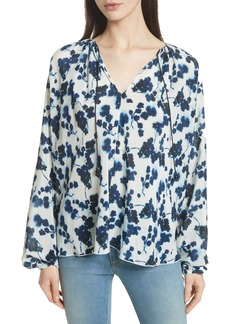 Elizabeth and James Lucia P. Floral Print Silk Top